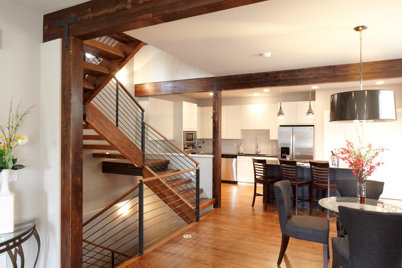 Race - modern duplex denver open plan kitchen dining