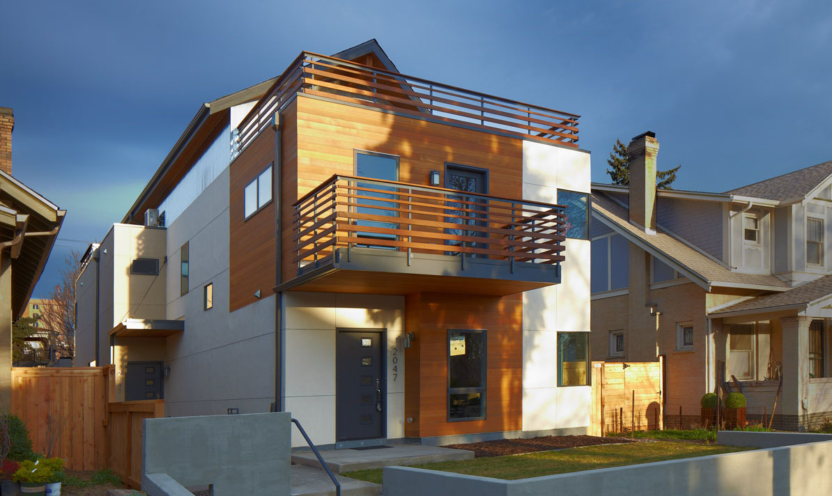Race - modern duplex denver wood balcony